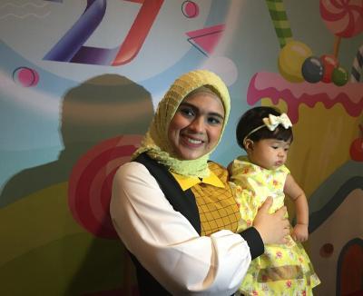 Perdana, Nycta Gina Boyong Sang Putri Hadiri 'Kilau Raya MNCTV'