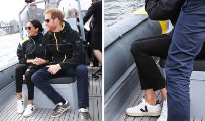Pertama Kali, Meghan Markle Kenakan Sneakers saat Royal Tour