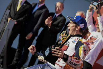 Marquez Tak Sangka Bisa Raih Tiga Gelar Juara MotoGP di Jepang