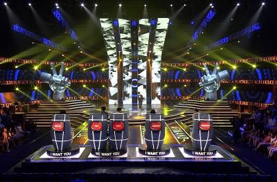 Persaingan Sengit Para Coach Dapatkan Peserta di Blind Audition The Voice Indonesia