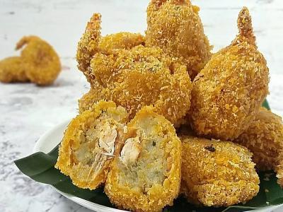 Resep Makan Siang dengan Udang Balut Perkedel dan Sambal Sari Laut, Sedapnya Nampol!