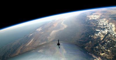 Virgin Galactic Meluncur ke Luar Angkasa, Ini Fotonya