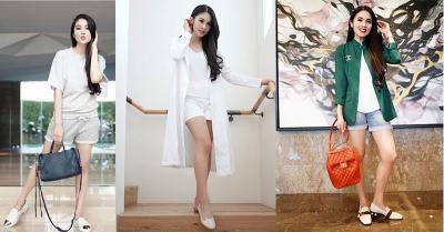 Padu Padan Hot Pants ala Sandra Dewi, Tampak Lebih Muda!