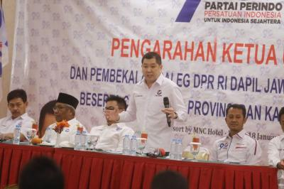 Bekali Caleg di Lido, Hary Tanoesoedibjo: Perjuangan Perindo Jadikan Indonesia Maju