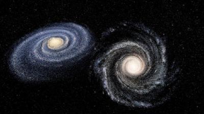 Ini yang Terjadi Bila Galaksi Bima Sakti dan Andromeda Bertabrakan