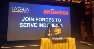 Perluas Konsumen, Bhinneka Kolaborasi dengan Lazada