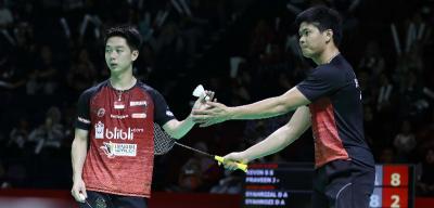 Kevin Sanjaya Dkk Raih Kemenangan Perdana di Superliga Badminton 2019