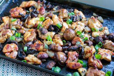 Olahan Makan Malam Praktis, Ayam Cah Jamur
