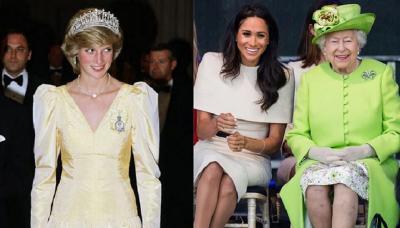 Ratu Elizabeth Larang Meghan Markle Pakai Perhiasan Putri Diana