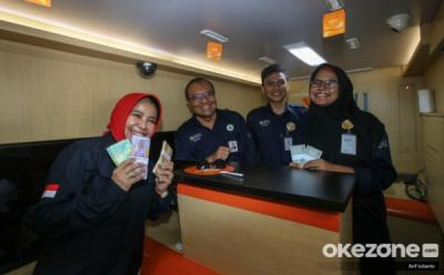 Tersedia Layanan Penukaran Uang di Rest Area Tol Jakarta-Merak