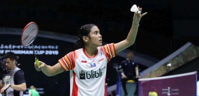 Gregoria Tumbang, Indonesia dan Taiwan Imbang 1-1