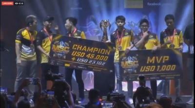 Final MSC 2019, Tim Mobile Legends Onic Esports Raih Juara