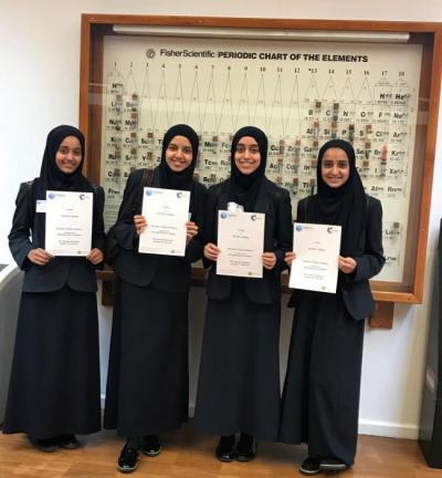 Murid SMU Tauheedul Islamic Girls Menangkan Kompetisi Kimia Bergengsi