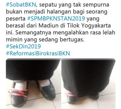 Viral Foto Peserta Ujian STAN Gunakan Sepatu Usang Bertalikan Rafia, Siapa Dia?