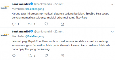 Bank Mandiri Eror, Nasabah Khawatir Saldonya Lenyap