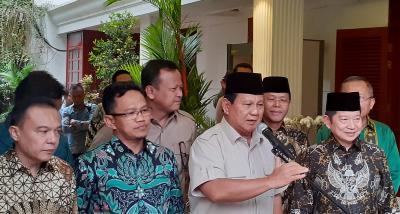 Didatangi PPP, Prabowo: Melakukan Komunikasi Politik