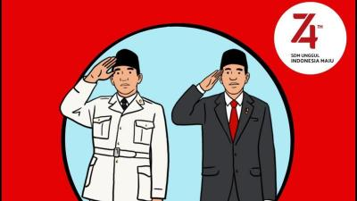 Ikuti Upacara 17 Agustus Bareng Presiden Jokowi dan Soekarno