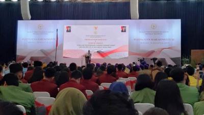 JK Hadiri Acara Peringatan Hari Konstitusi di MPR