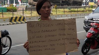 Suaminya Diduga Dianiaya Oknum Polisi Hutan, Wanita Ini Minta Keadilan ke Jokowi
