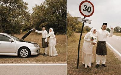 Mobil Mogok di Jalan, Ide Kreatif Pasutri Ini Jadi Viral!
