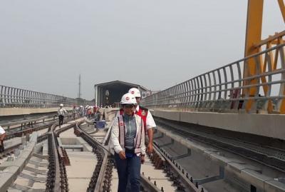 Menteri Rini: LRT Jabodebek Jalur Cibubur-Cawang Beroperasi Akhir Oktober 2019