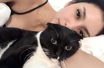 Gaya Manja Tyas Mirasih Main Bareng Kucing, Masih Tetap Seksi