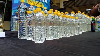 Miras Oplosan Tewaskan 4 Orang di Malang, 1.280 Botol Miras Disita