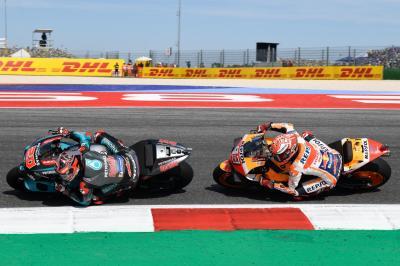 Quartararo Akui Kecepatan Tinggi Marquez di MotoGP Aragon 2019