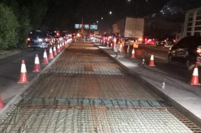 Lanjutkan Rekonstruksi Jalan Tol Jagorawi, Jasa Marga Lakukan Contraflow