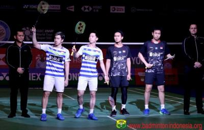Jelang All Indonesian Final di China Open 2019, Ini Rekor Pertemuan Ahsan Hendra vs Marcus Kevin