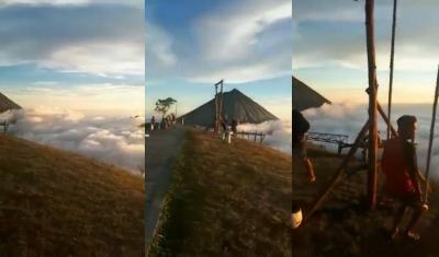 Viral Keindahan Negeri di Atas Awan, Warga: Kapok Aing