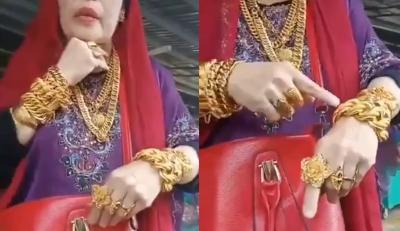 Viral Emak-Emak Makassar Pamer Emas 3 Kg, Netizen: Lebih Kaya dari Hotman Paris!
