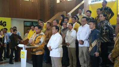 Sambangi Markas Golkar, Prabowo: Saya Kembali ke Almamater