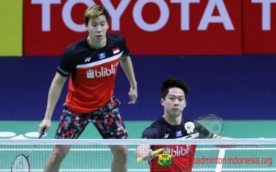 Bungkam Wakil Taiwan, Marcus Kevin Lolos ke Babak Kedua Denmark Open 2019