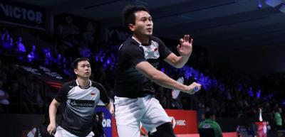 Ahsan Hendra Tantang Marcus Kevin di Final Denmark Open 2019