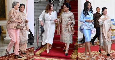 Cantiknya 3 Istri Kepala Negara di Samping Iriana Jokowi saat Pelantikan Presiden