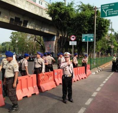 Polisi Berlakukan Rekayasa Lalin Sekitar Istana Selama Pelantikan Presiden