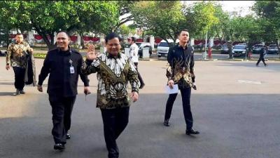 Prabowo dan Calon Menteri Lainnya Sudah Tiba di Istana Negara