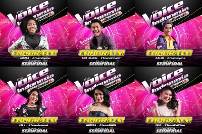 6 Peserta The Voice Indonesia Melaju ke Babak Semifinal