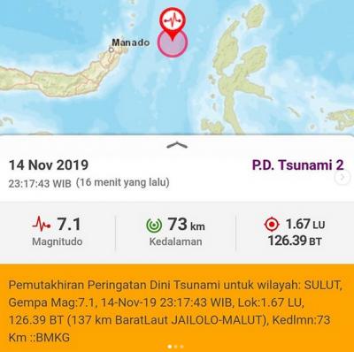 Gempa M 7,1 di Malut, Warga: Kuat Sekali, Kami Berhamburan Keluar Rumah