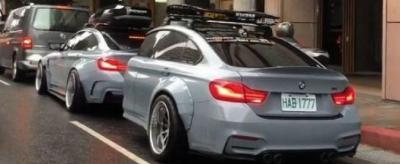 Wanita Rela Potong Bodi Mobil BMW Seharga Ratusan Juta untuk Bikin Trailer