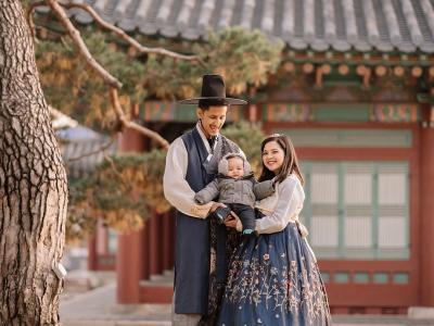 Tasya Kamila dan Randi Bachtiar Pakai Hanbok ala Drama Korea, Bikin Meleleh!