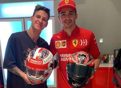 Tukar Helm dengan Leclerc, Quartararo Harap Segera Jajal Mobil F1