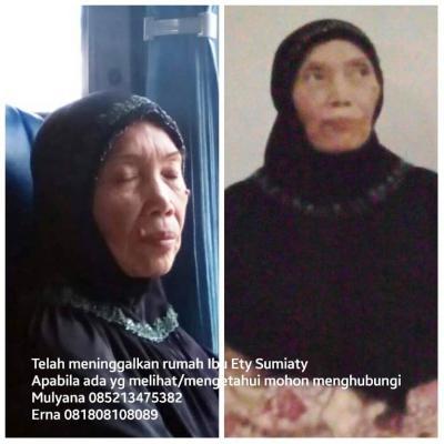 Wanita 66 Tahun Asal Bekasi Sudah Sebulan Hilang, Jika Menemukan Hubungi Nomor Ini