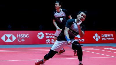 Hendra Ahsan Fokus Hadapi Semifinal BWF World Tour Finals 2019
