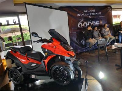 Qooder Skuter Matik Roda Empat Asal Swiss Resmi Mengaspal di Indonesia