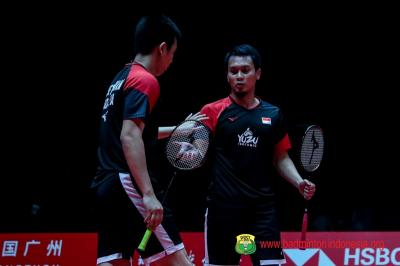 Ahsan Hendra Terbantu Eror Lee Wang di Semifinal BWF World Tour Finals 2019