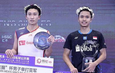 Anthony Ginting Hanya Menang Satu Kali dari Momota Tahun Ini, Bakal Juara?