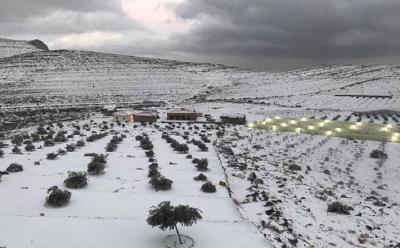 Tak Hanya Arab Saudi, Warga UEA Kini Nikmati Hujan Salju di Negaranya