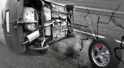 BMW Kecelakaan Tunggal di Tol Slipi Arah Grogol